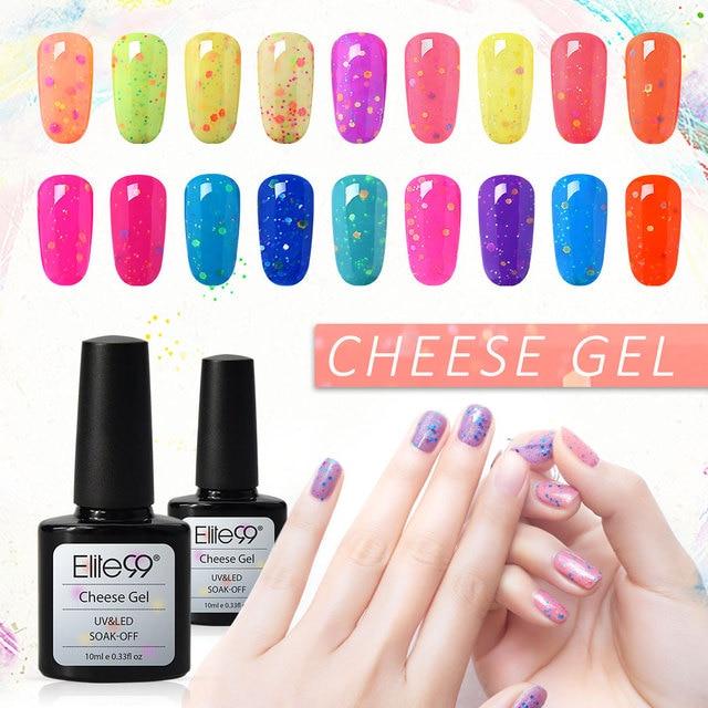 Elite99 Käse Candy UV LED Nagel Gel Polish Top Basis Mantel Benötigt Milchig Weiß Nagel Lack Gel Lack Semi Permanent nagellack