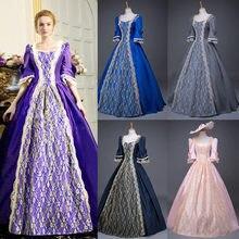 Robe gothique Vintage pour femmes, style Steampunk, rétro, demi manches, robe de soirée élégante, longueur cheville