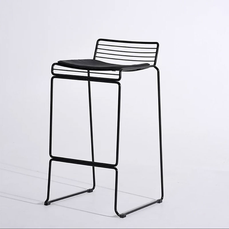 Nordic Bar Counter Chair Iron Art Creative Simple Fashion Bookstore Home Front Desk Leisure High Feet Stool