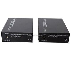 Image 4 - 1 Pair Gigabit Fiber Optical Media Converter 10/100/1000Mbps Single Mode Single Fiber