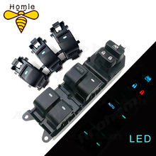 Lighted LED Power Single Window Switch set For Toyota RAV4 Camry Corolla Yaris Highlander Auris Urban Cruiser Vios 84820-06130