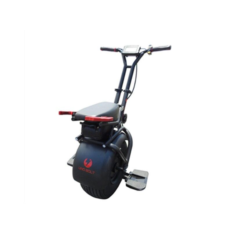 Scooter électrique de moto 1000W une roue auto équilibrage Scooters 60V Scooter électrique de monocycle pour adultes avec siège