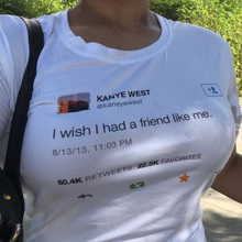I Dont Have To Be Cool Kanye West Tweets Graphic T Shirt Women Summer Short Sleeve O-Neck T