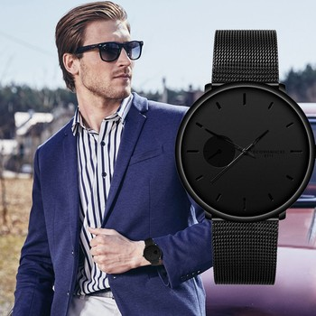 High-end Men Business Watch Top Brand Male Sports Watches Luxury Mesh Belt Quartz Wristwatch Clock Relogio Masculino 2020 dom men watches top brand luxury quartz watch casual quartz watch black leather mesh strap ultra thin fashion clock male relojes