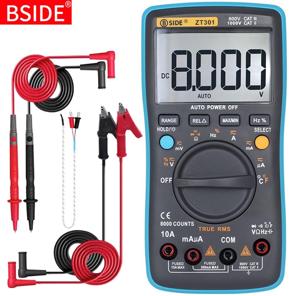 BSIDE Digital Multimeter 8000 High Precision True RMS Auto Range Ammeter Voltmeter Smart Capacitor Temperature NCV Ohm Hz Tester