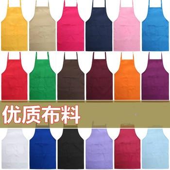 цена Fashion home men and women work red yellow blue green orange yellow purple black and white brown apron custom онлайн в 2017 году