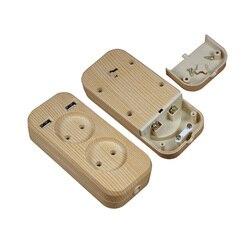 Tira de energia 2 plugue da ue 1200w 250v, 5v 2a rápido instalar soquete portátil 2 porta usb para telefones celulares para smartphones tablets FW6-01