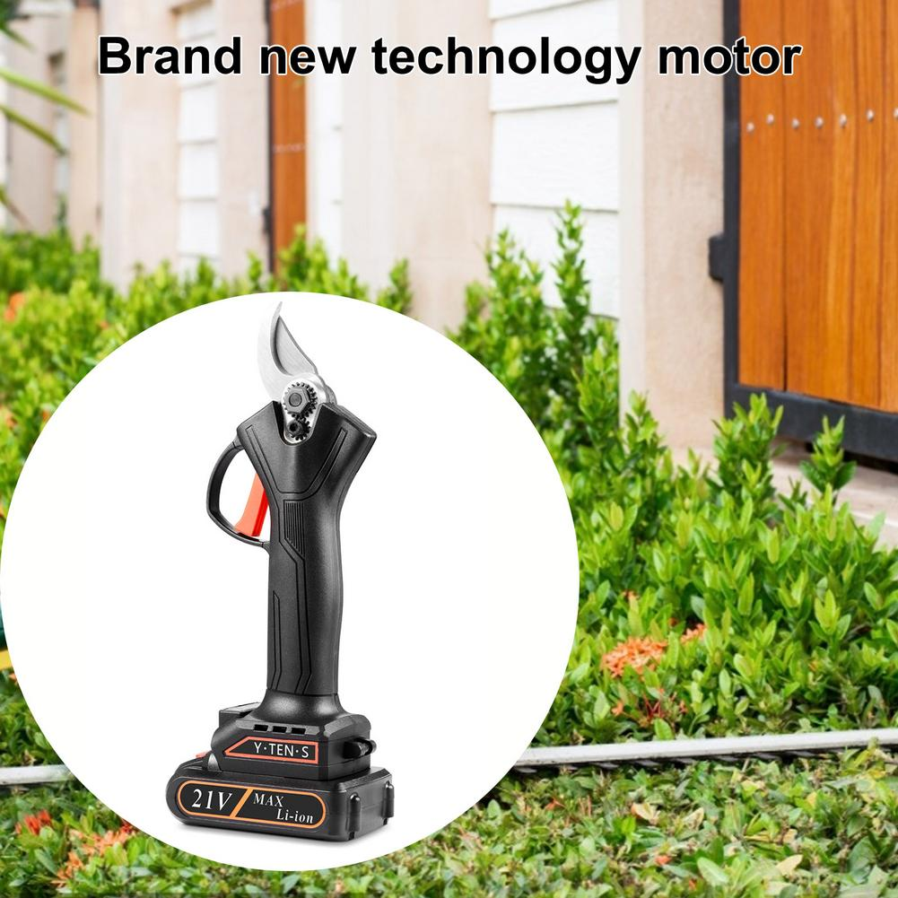 21V Tool Pruning Cutting Cordless Cutter Branch Secateur 550W Garden Electric Pruning Scissors Rechargeable Pruner Shears