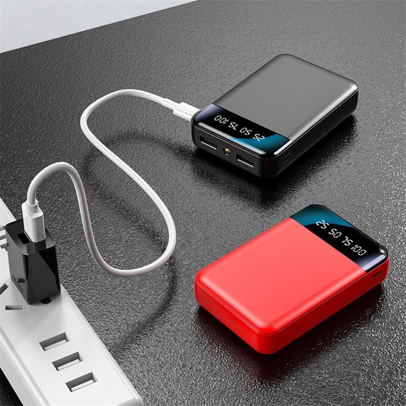 Mini Power Bank 30000MA Portable Charger Outdoor Power SluppyTravel Power Bank Digital Display LED Lighting for Xiaomi Samsung 3