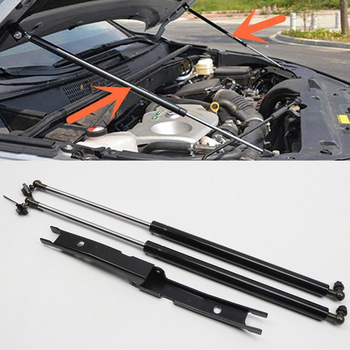 For Toyota Hilux Revo 2016 2017 2018 2019 Hood Cover Hydraulic Rod Strut Telescopic Rod Hood lift Support 2pcs Car Styling Top s