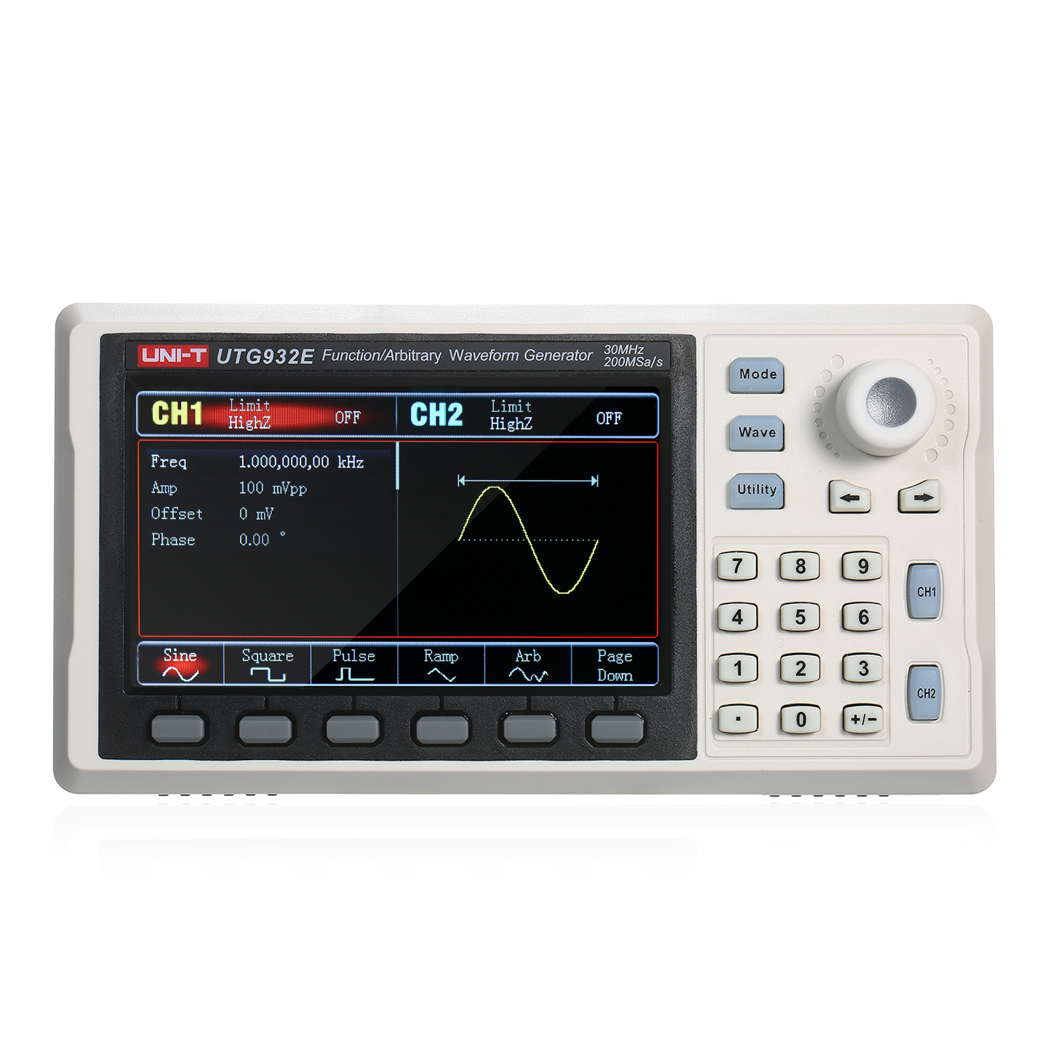 Function/Arbitrary Waveform Generator 30MHz DDS Dual Channel Signal Generator 200MSa/s Frequency Meter Wave Generator