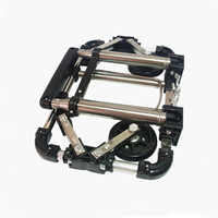 E-FOUR Folding Hand Truck 50 kg Capacity Collapsible 360 Degree Rotating Platform Cart Dolly with Swivel Locked Casters Trolley