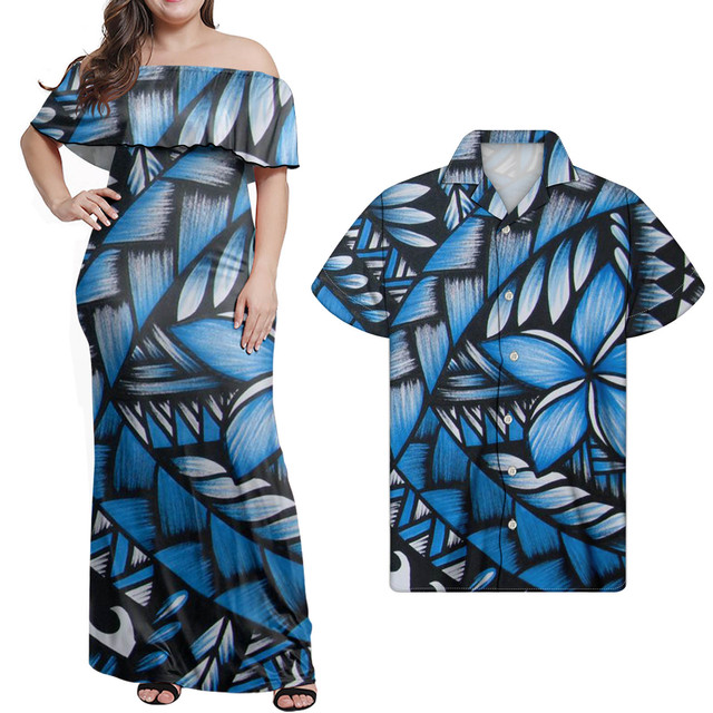 HYCOOL 2021 New Summer Women Polynesian Tribal Off Shoulder Bodycon Bandage Dress Sexy Celebrity Runway Party Dresses Hot Sale 2