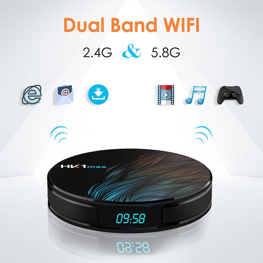 4K Smart TV BOX Android 9.0 HK1 MAX 4GB RAM 128GB ROM 64GB lecteur multimédia HK1MAX décodeur TV 2G/16G PK H96 Max 2019 nouveau - 2