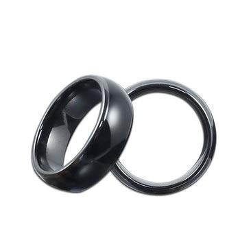 RFID 125KHZ o 13,56 MHZ, cerámica negra, anillo inteligente, desgaste para hombre o mujer