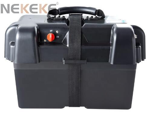 NEKEKE Camping boat Car Marine Plastic 12V Waterproof battery box