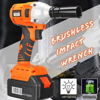 Impact Wrench 21V Brushless Electric Impact Wrench Variable Speed Cordless Rechargeable Electric Impact Drill фото