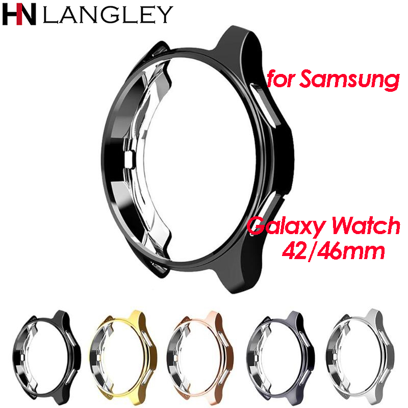 5 Color TPU Slim Soft Protective Case Cover For Samsung Galaxy Watch 46mm 42mm Frame Smartwatch Protector Cover Accessories