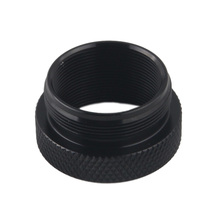 aluminum thread reducer booster adapter reduction ring  1.375x24 to 1 3/16x24 for fuel filter solvent trap