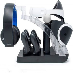 Ps vr Holder PS4 Handle Double Chargers Move Handle Chinese plug Chargers PS4 Multi-functional Base PS3 Move Fixed Charger(China)