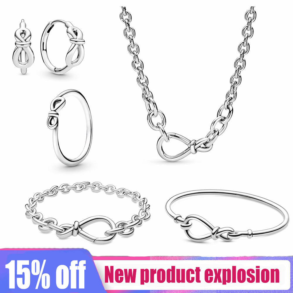 Kakany New High-quality Fashion Charm Original 1: 1S925 Sterling Silver Infinite Series Jewelry Set Holiday Gift Recommendation