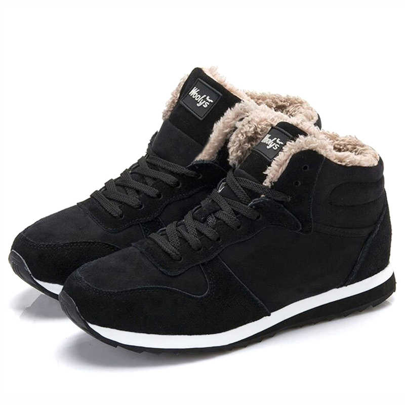 Fashion New Winter Shoes Men Boots Warm Plush Snow Boots Men Sneakers Winter Boots Men Shoes Male Shoes Adult Boots Men 39 S