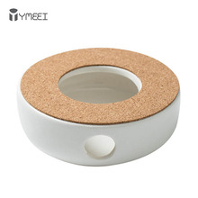 Белая теплостойкая термоизоляционная подставка для чая YMEEI, домашний подогреватель для кофе, кипящей воды, подсвечник, аксессуары для чая