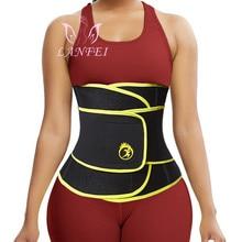 LANFEI Compression Strap Waist Trainers Belt for Women Slimming Sauna Weight Loss Neoprene Body Shaper Corset Hot Sweat Fat Burn