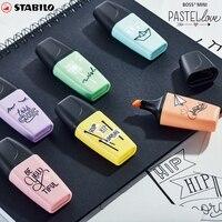 3 pcs/6 pcs 새로운 stabilo 보스 미니 형광펜 형광 펜 컬러 형광펜 펜 마커 펜 세트