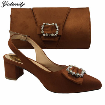 Hot Sale Summer Women Pumps Shoes And Bag To Match Set Fashion African High Heels Shoes And Bag Set For Party Size 37-42 On Sale