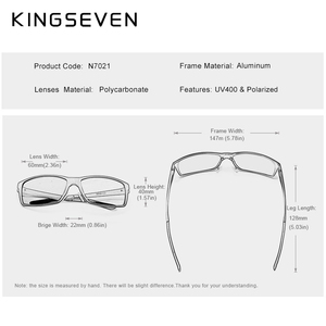 Image 4 - KINGSEVEN 2020 Mens Sunglasses Aluminum Magnesium Polarized Driving Mirror Eyewear For Men/Women UV400 Oculos