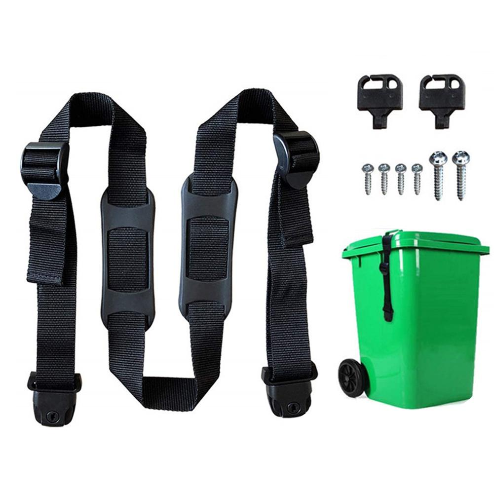 Quick Shackle Screws Tool Strong Anti-wear No Mess Adjustable Nylon Trash Can Strap Outdoor Fixed Lid Security Garbage Bin Lock