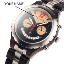 лучшая цена Customized Name Luxury Wood Watch BOBO BIRD Top Brand Waterproof  Men Wristwatches relogio masculino Great Gift V-Q28