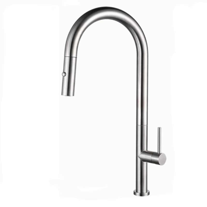 matte black kitchen faucet gun metal kitchen mixer hot and cold pull out kitchen tap sink crane with double function shower