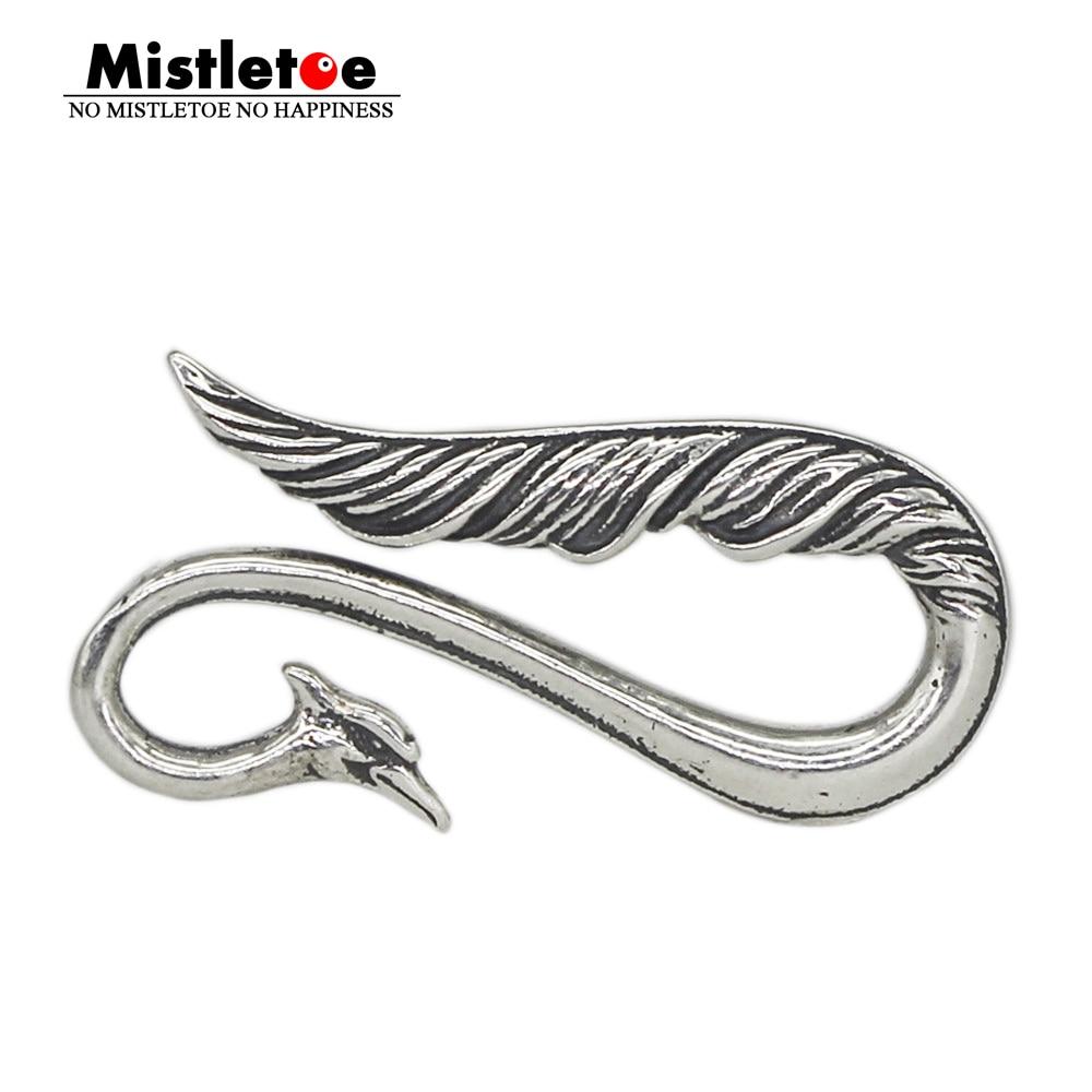 Mistletoe Hook Jewelry 925-Sterling-Silver European Claw-Lock Peacock S925-Logo Wthout