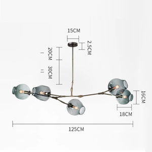 Image 3 - Современная люстра в скандинавском стиле, светодиодный потолочный светильник в стиле индастриал для гостиной, спальни, кухни, подвесные осветительные приборы
