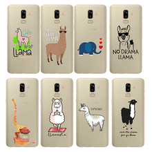 Cute Llama Alpaca Animals Cartoon Soft Silicon Phone Cases Cover for Samsung J4 Core J6 J7Plus J5 J7Prime J8