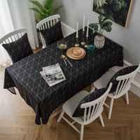 Mantel de lino negro cuadrado pvc mantel muebles modernos cubre manteles para mesa rectangulares en tela DW114