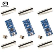 Nano V3 0 płyta Nano CH340 ATmega328P bez kabla USB kompatybilna z Arduino Nano V3 0 (Nano x 3 bez kabla) tanie tanio ROBOTLINKING Nowy Regulator napięcia 32 KB of which 2 KB used by bootloader 16 MHz