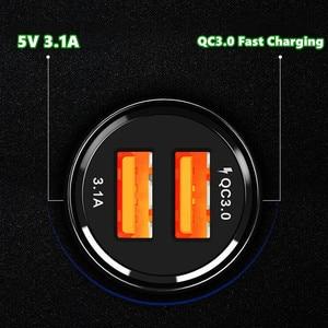 Image 4 - QC 3.0 2.0 شاحن سيارة USB مزدوج للهاتف المحمول شحن سريع آيفون 11 برو ماكس هواوي P30 برو سامسونج أقراص سيارة شاحن