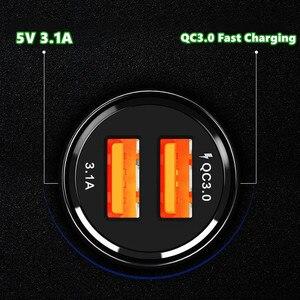 Image 4 - Qc 3.0 2.0 デュアル usb 車の充電器急速充電 iphone 11 プロマックス huawei 社 P30 プロサムスン錠車の充電器