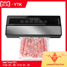 YTK Vacuum Sealer Best Fully Automatic Portable Household Food Wet Dry 220V110W Packaging Machine Sealing Include 5Pcs Bags Free