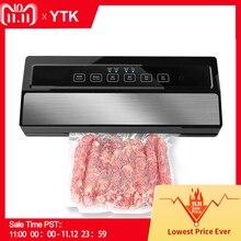 YTK فراغ السدادة أفضل التلقائي بالكامل المحمولة المنزلية الغذاء الرطب الجاف 220V110W ماكينة تغليف ختم تشمل 5 قطعة أكياس مجانية