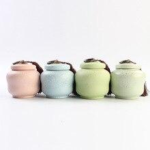 Напрямую от производителя Продаем керамические многоцветные глазурные контейнеры для чая Герметичные банки для хранения чайный набор чай церемония поколение