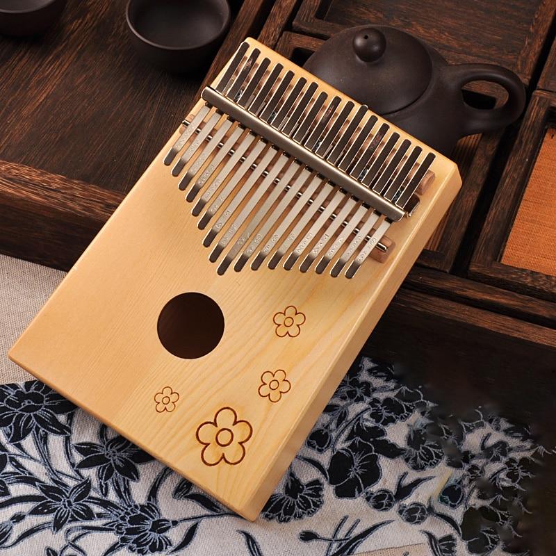 Image 5 - 17 Keys Kalimba African solid Mahogany Thumb Piano 17 keys Solid Wood Kalimba Musical Instrument High Quality Wood Finger Piano-in Piano from Sports & Entertainment
