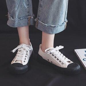 Image 3 - Chaussures de mode femmes toile femmes vulcaniser chaussures nouveau plat tendance mode confortable déodorant baskets chaussures femmes baskets