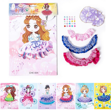 Handmade Toys Stickers Decorative-Toys Kindergarten Children Diy Cartoon Skirt Interactive-Puzzle