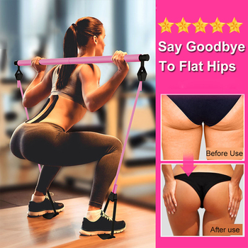 New Fitness Yoga Pilates Bar Stick Crossfit Resistance Bands Trainer Yoga Pull Rods Pull Rope Portable home Gym Body Workout 1