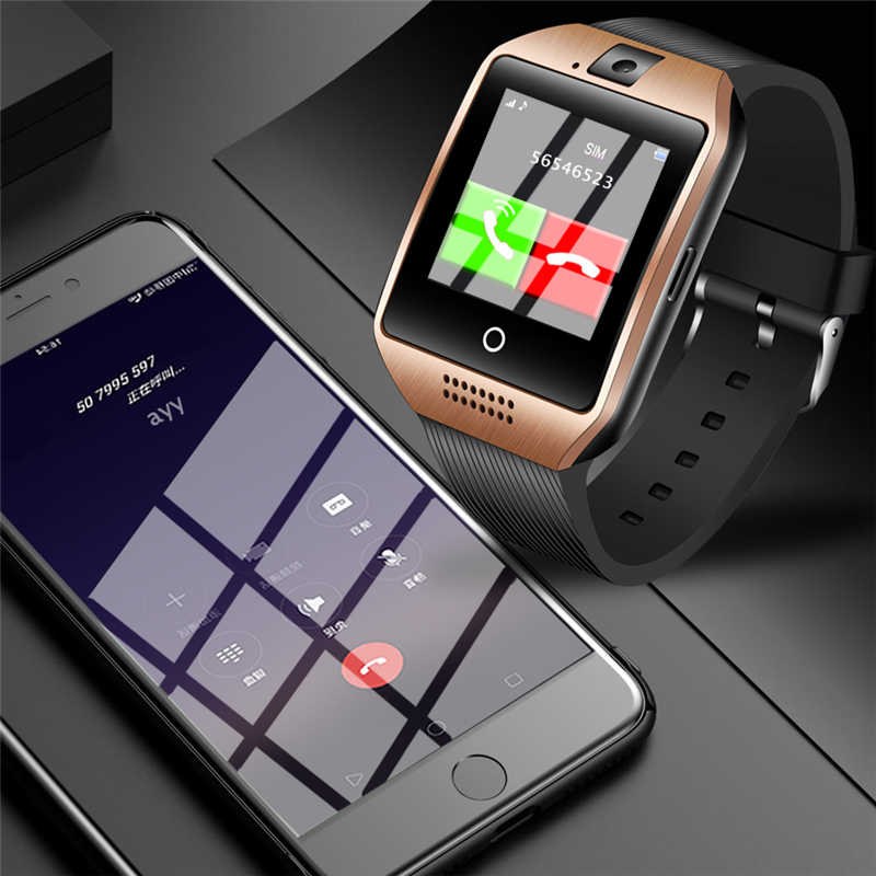 WISHDOIT Sport Watch Men Digital Watch Bluetooth Remote Control Camera Smart Watch Applicable to Android Phone Support SIM Card