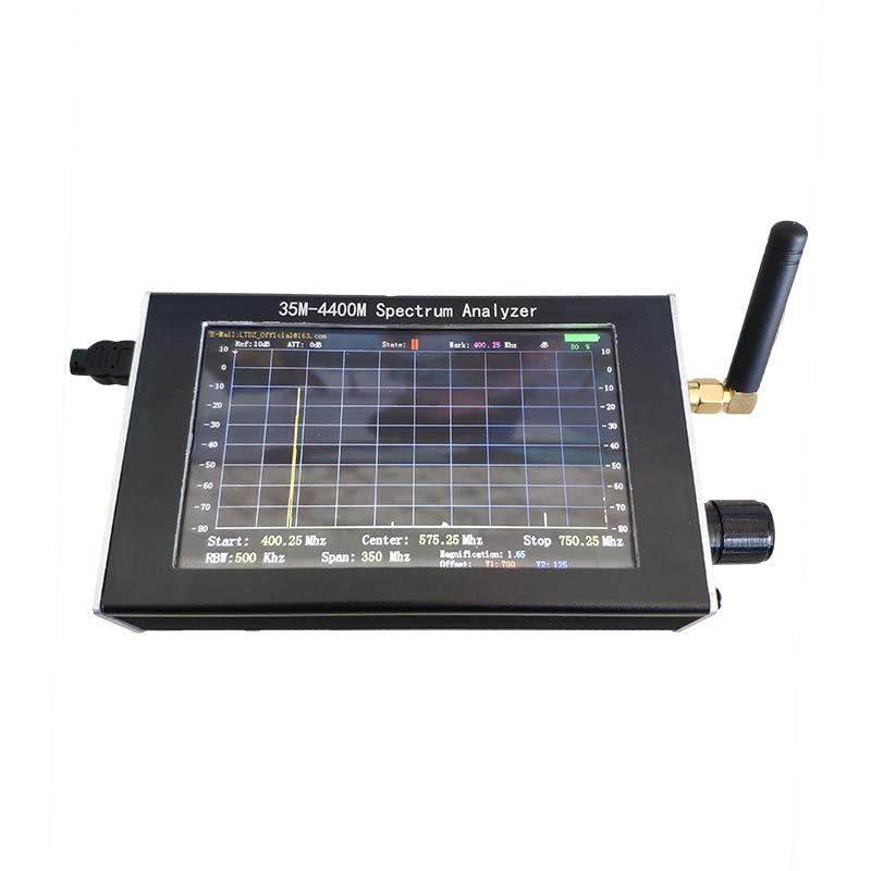 Image 5 - Портативный анализатор спектра 35 м 4400 МГц генератор сигналов анализатор спектра с 4,3 дюйма дисплей TN88Анализаторы спектра    АлиЭкспресс